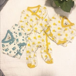Set of three Baby Soy Organic Onesies set of three